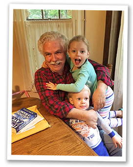 John with grandchildren