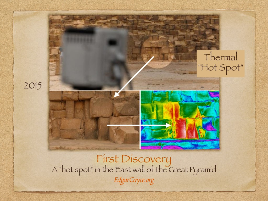 "A ""hot spot"" in the East wall of the Great Pyramid"