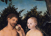 Lucas Cranach Adam und Eva im Paradies-Google_Art_Project