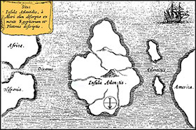 Atlantis Athanasius Kircher's map