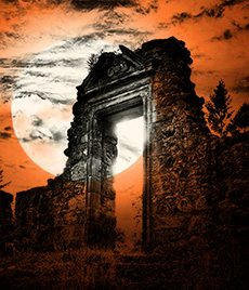 ruined Doorway Halloween 2013