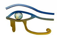 eye of horus with globe