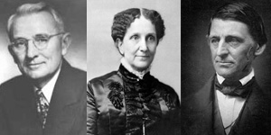 Dale Carnegie, Mary Baker Eddy and Ralph Waldo Emerson