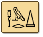 pyramid in hieroglyphics