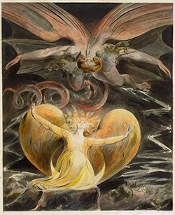 The Great Red Dragon and the Woman Clothed in Sun - William Blake