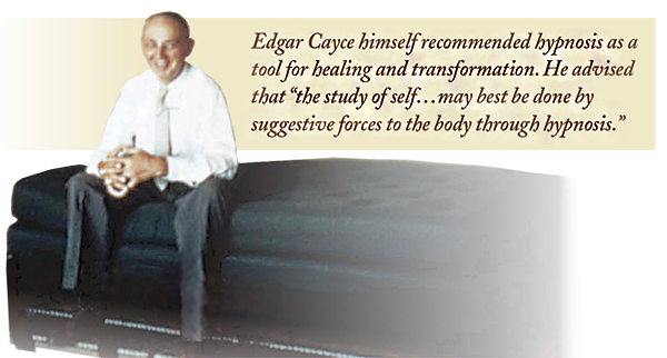 Edgar Cayce on the day bed