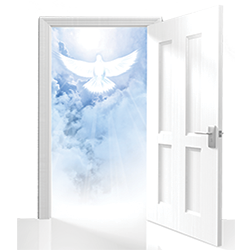 Open Door with Dove