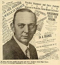 Edgar Cayce with headlines
