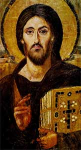 Wikipedia - Christ (Pantokrator) icon from Saint Catherine's Monastery, Mount Sinai.