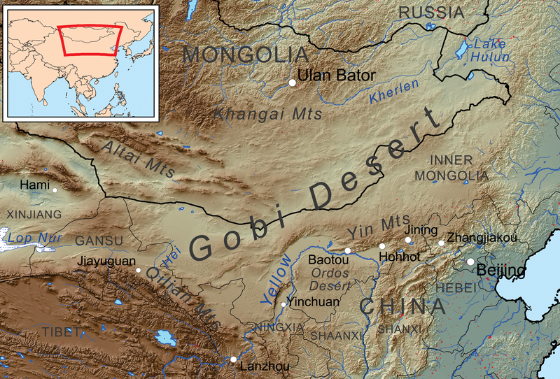 Gobi Map Wikipedia Kmusser